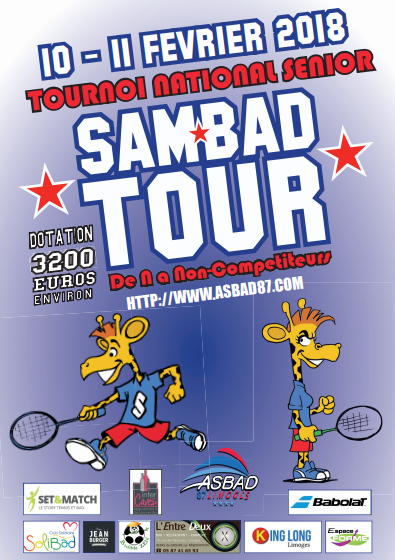 Tournoi SAM'BAD TOUR 2018